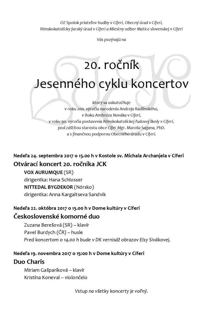 20. ročník JCK - Duo Charis 1