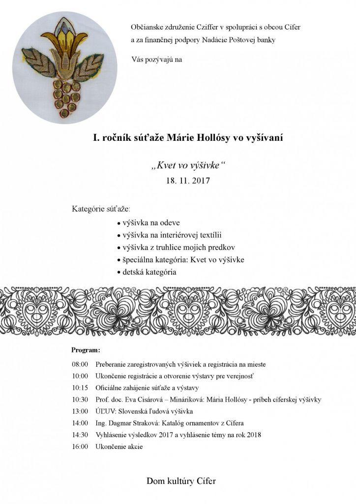 Súťaž Márie Hollósy vo vyšívaní - 18.11.2017 1