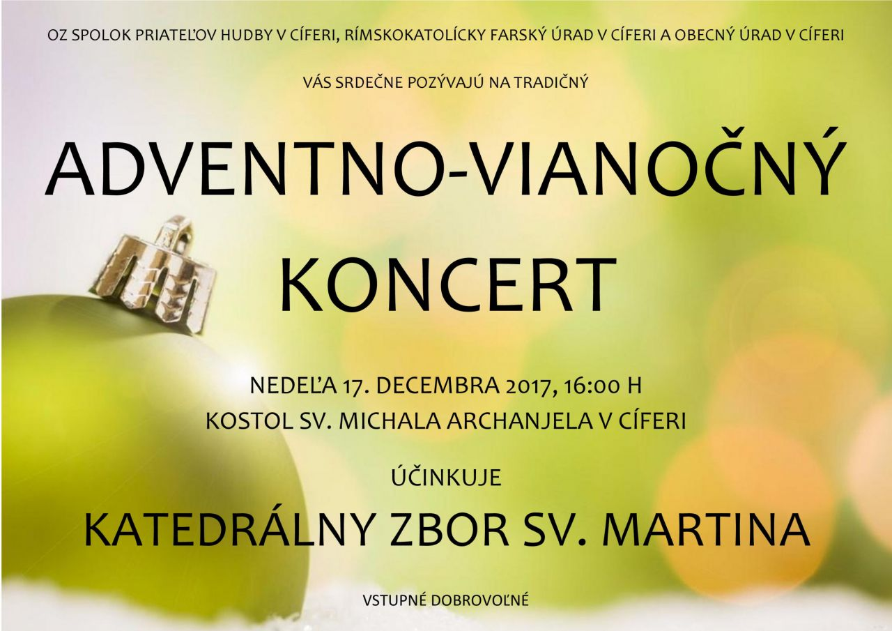 Adventno-vianočný koncert - 17.12.2017 1
