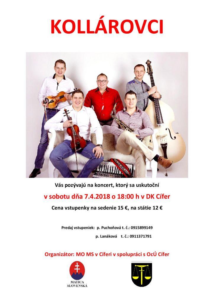 Kollárovci - koncert 7.4.2018 1