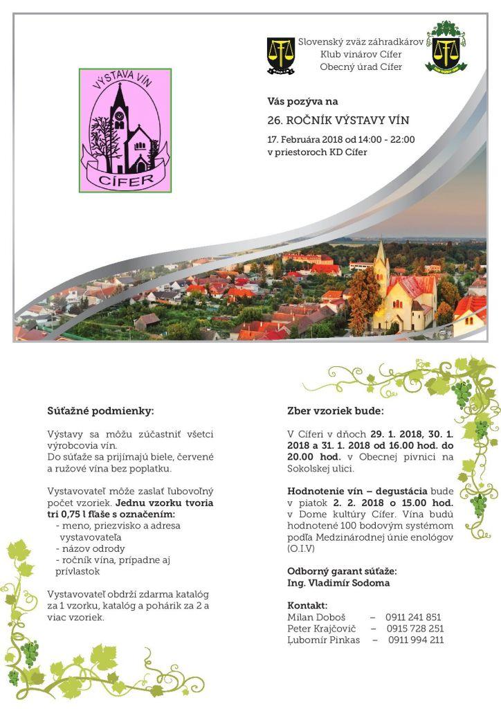 26. ročník výstavy vín - 17.2.2018 1