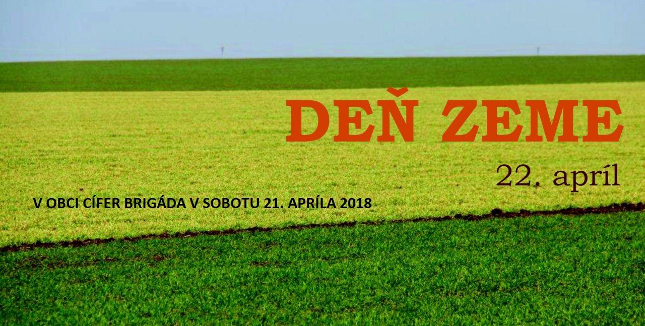 Obecná brigáda pri príležitosti Dňa zeme - v sobotu 21.4.2018 1