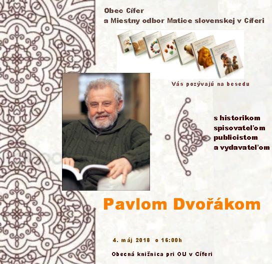 Beseda s Pavlom Dvořákom - 4.5.2018 1