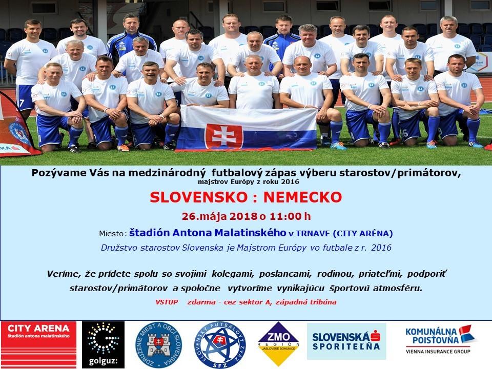 684c9067d Kalendár akcií - Medzinárodný futbalový zápas výberu starostov ...
