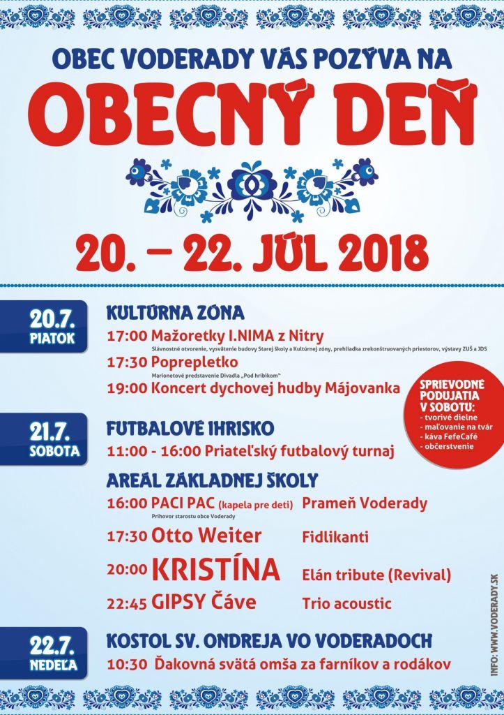 Obecný deň vo Voderadoch - 20.-21.7.2017 1