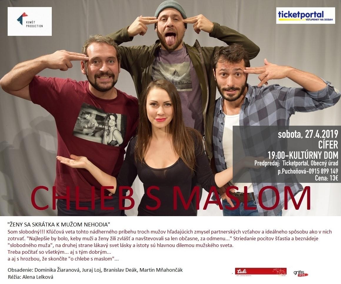 Divadelné predstavenie Chlieb s maslom - 27.4.2019 1