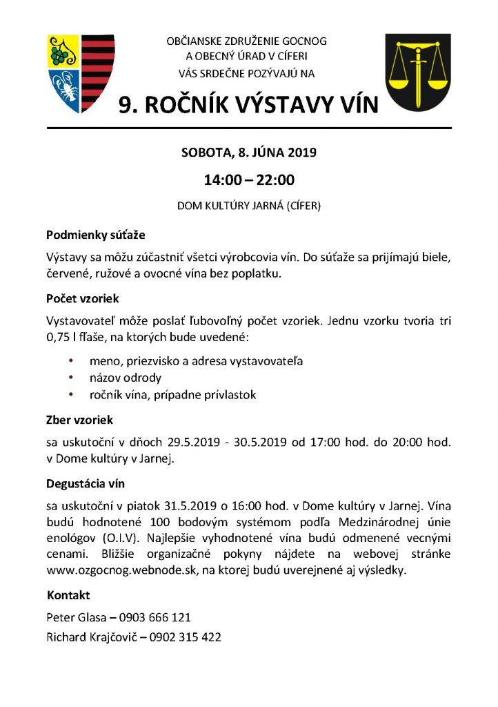 Výstava vín v Jarnej - 8.6.2019 1