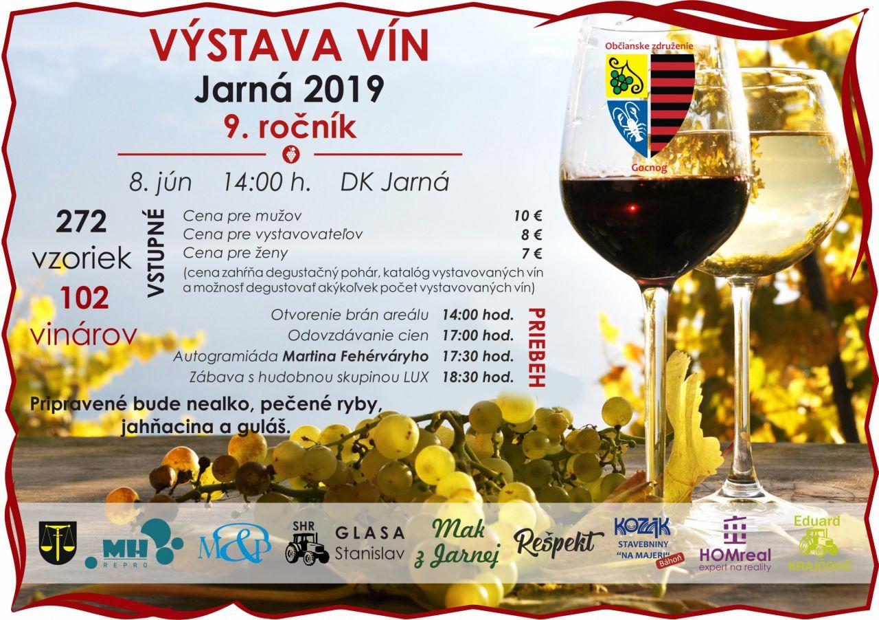 73c04783c Kalendár akcií - Výstava vín v Jarnej - 8.6.2019 - Oficiálne stránky ...