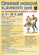 Cíferské hodové slávnosti 27.9.-29.9.2019 3
