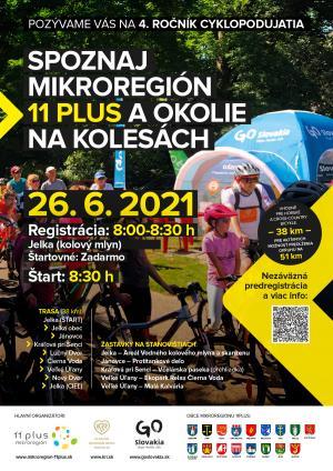 Spoznaj Mikroregión 11 PLUS a jeho okolie na kolesách 1