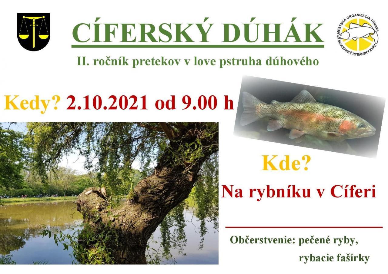 CÍFERSKÝ DÚHÁK - II.ročník pretekov v love pstruha dúhového