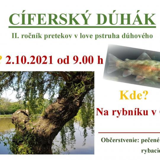 CÍFERSKÝ DÚHÁK - II.ročník pretekov v love pstruha dúhového 1