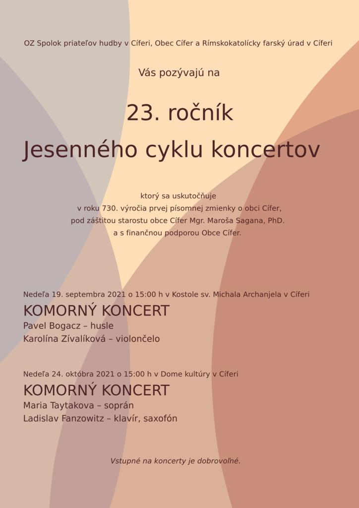 23. ročník Jesenného cyklu koncertov