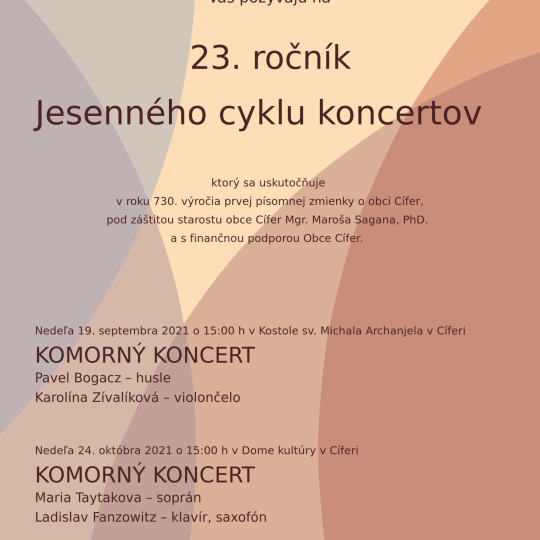 23. ročník Jesenného cyklu koncertov 1
